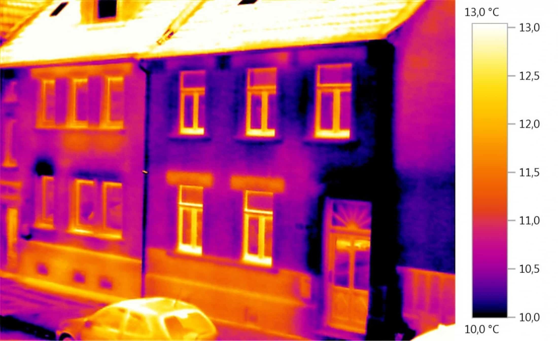 Thermische opname gebouw